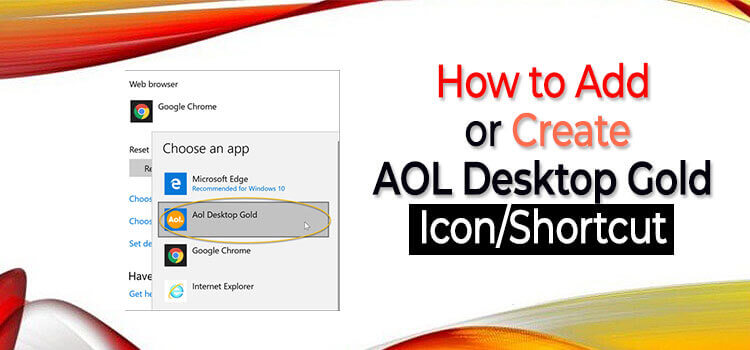Add Create AOL Desktop Gold icon